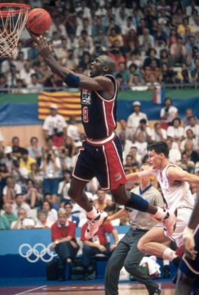 Michael Jordan Layup Olympic 1992