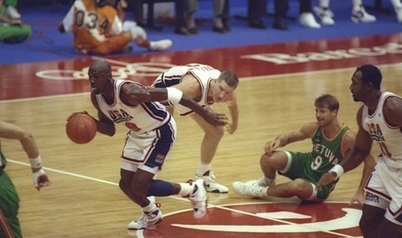 Michael Jordan Off the Steal Olympic 1992