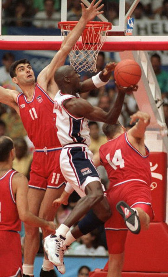 Michael Jordan Taking Flight 1992 Olympic Dream Team