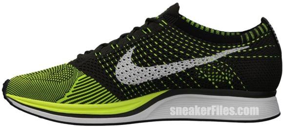 Nike FlyKnit Racer  Volt Black-Sequoia   133ce574b