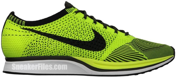 Nike FlyKnit Racer  Volt Black-Sequoia   76d644a13