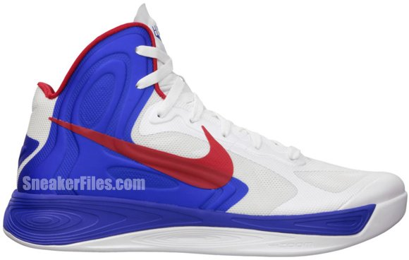 Nike Hyperfuse - White/University Red-Game Royal
