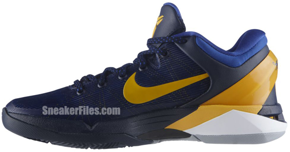 Nike Zoom Kobe VII System 'Obsidian/University Gold-Game Royal-Wolf Grey'