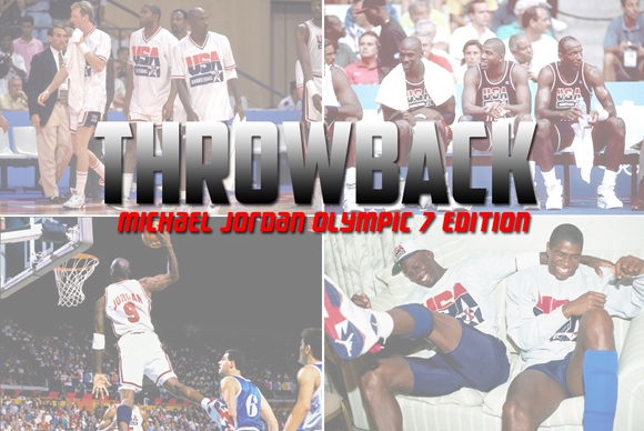 Throwback: Michael Jordan Wearing the Air Jordan 7 Olympic Shoes