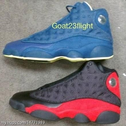 Air Jordan 13 'Squadron Blue' and Black/Red 2013 Samples