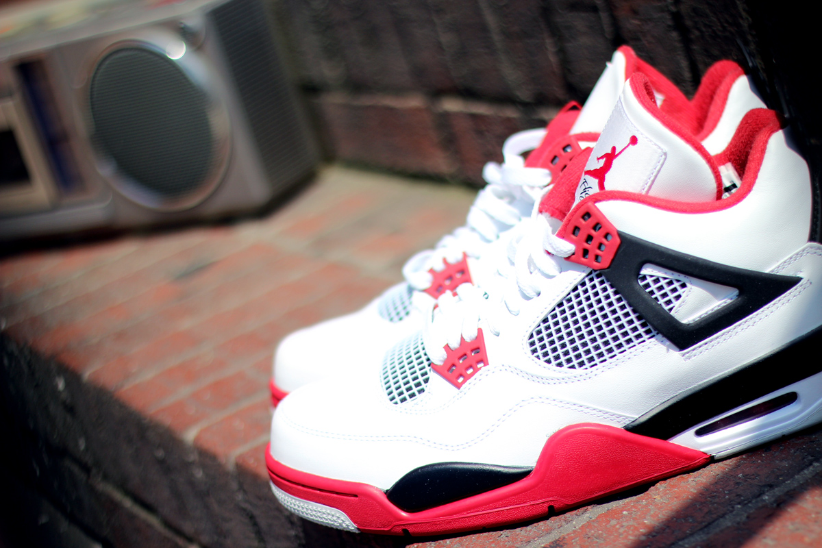716e0e0aa85 Air Jordan 4 'Fire Red' at Social Status | SneakerFiles