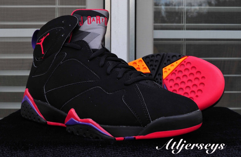 newest 4b184 b0d3a Air Jordan 7 Black True Red Dark Charcoal Club Purple   Another Look low-