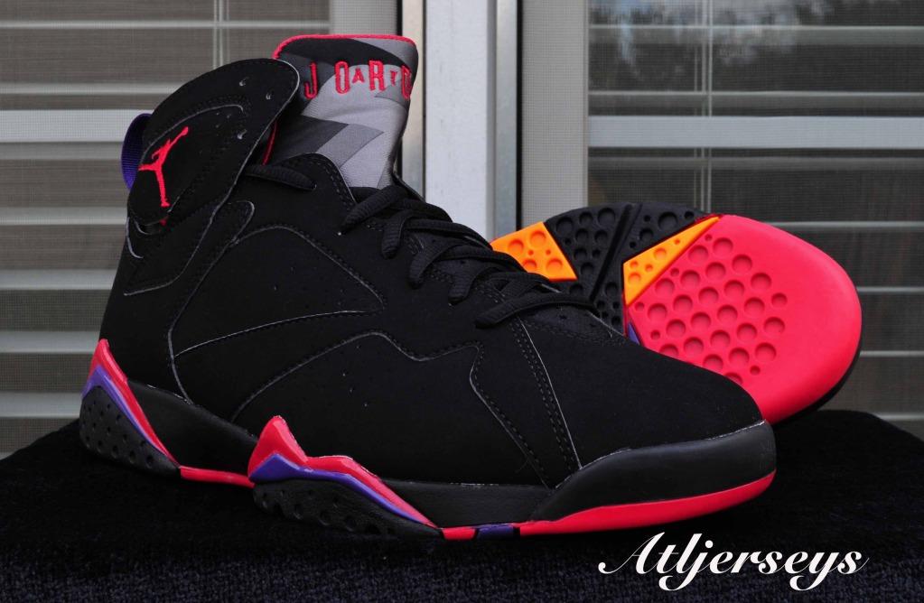 Air Jordan 7 'Black/True Red-Dark Charcoal-Club Purple' - Another Look