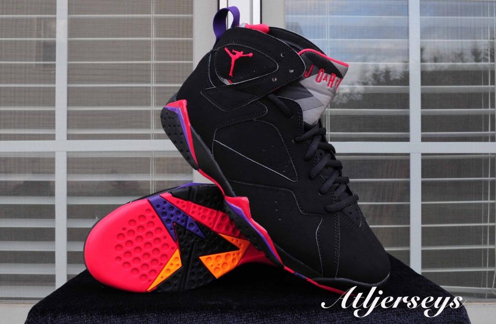 newest cc2b4 b8e08 Air Jordan 7 Black True Red Dark Charcoal Club Purple   Another Look low-