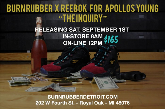 Burn Rubber x Reebok Question for Apollos Young 'The Inquiry' - Updated Release Info