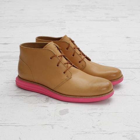 Cole Haan LunarGrand Chukka 'Biscuit/Pink'