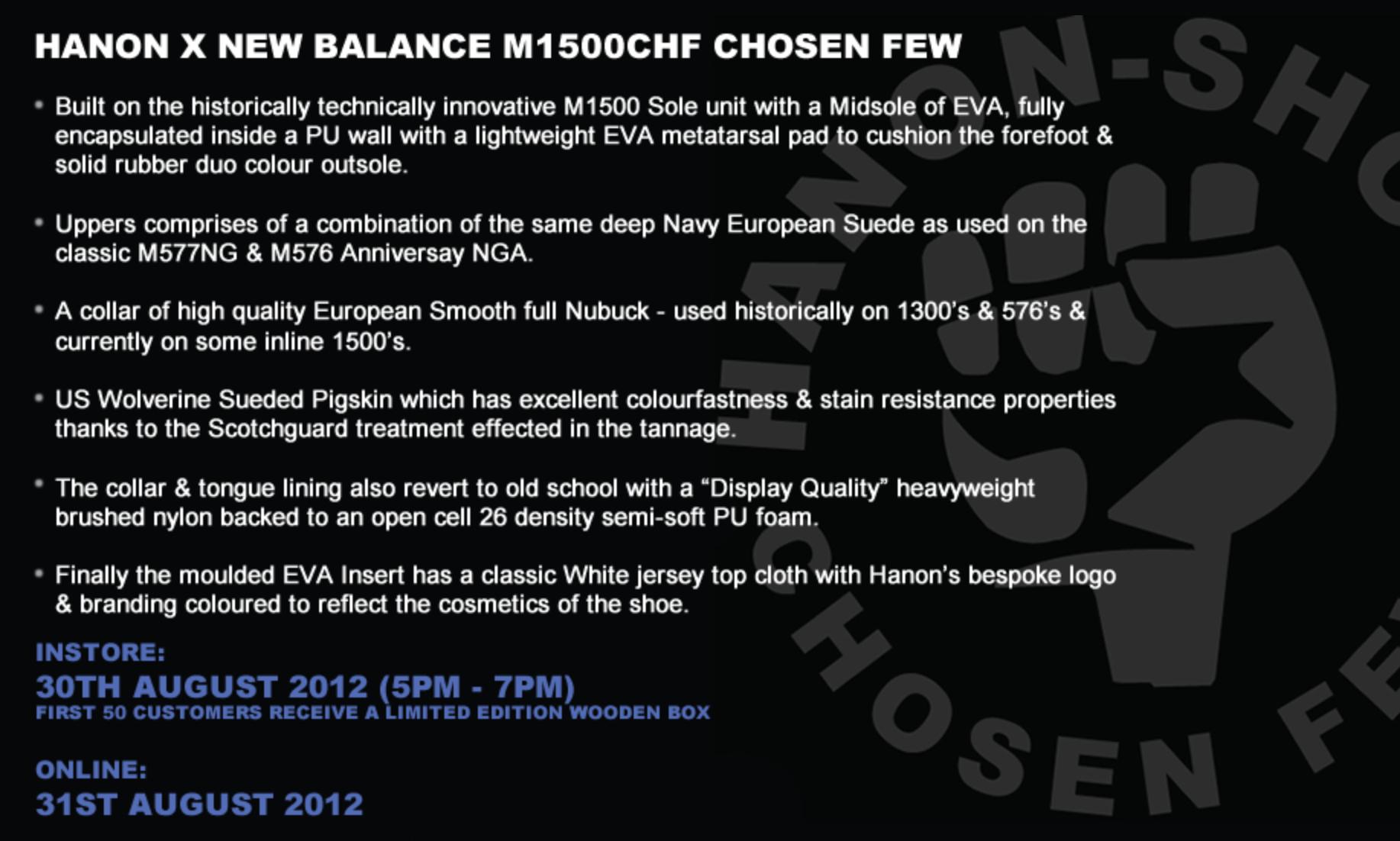 Hanon x New Balance 1500 'Chosen Few' - New Images
