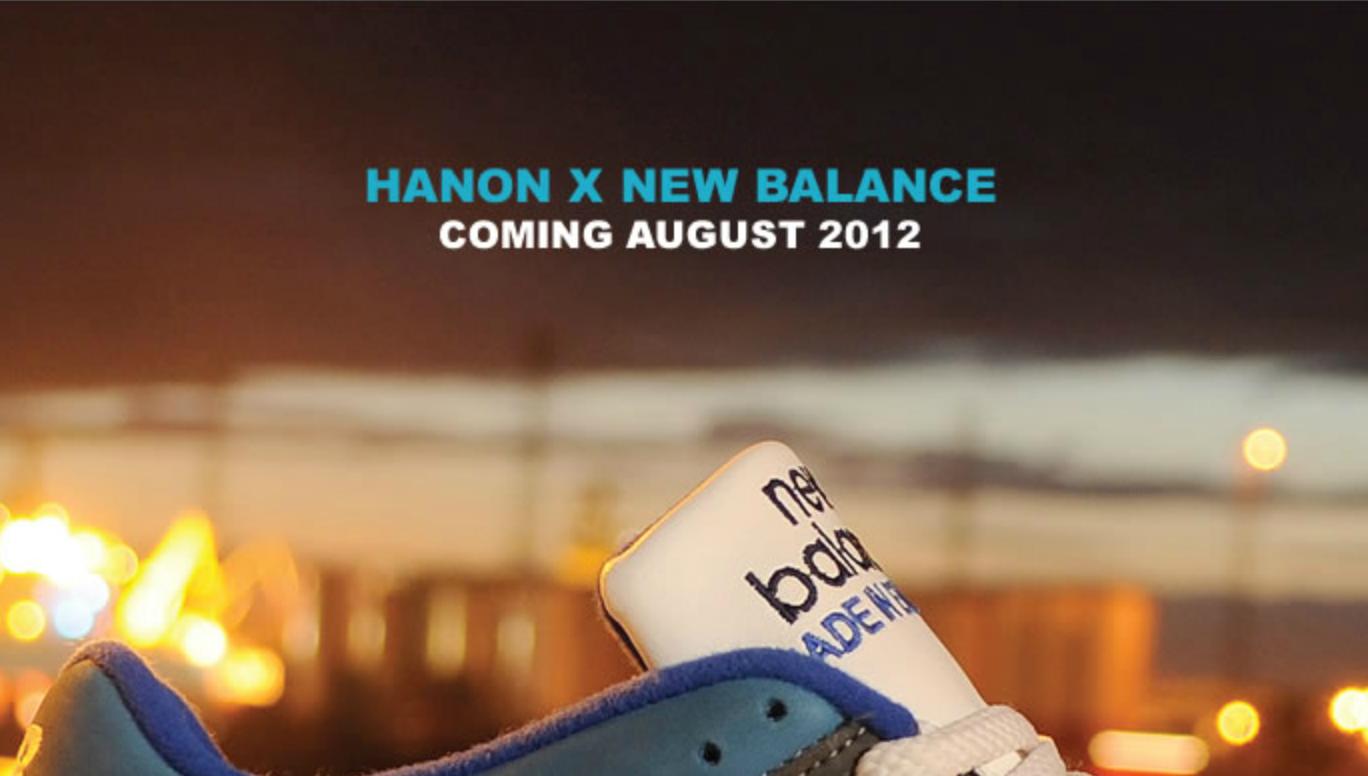 Hanon x New Balance Teaser