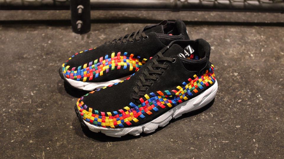 quality design ccff6 76d5f nike air footscape motion woven chukka rainbow black at mita