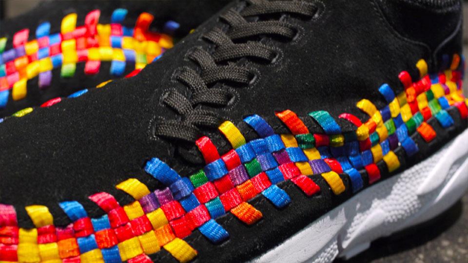 Nike Air Footscape Motion Woven Chukka Rainbow 'Black' at mita
