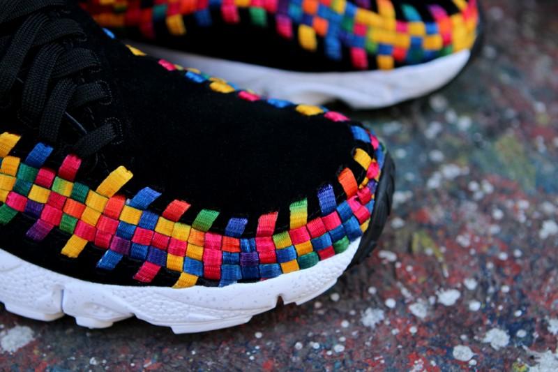 Nike Air Footscape Woven Chukka Premium QS Rainbow 'Black/Black-White' at Kith NYC