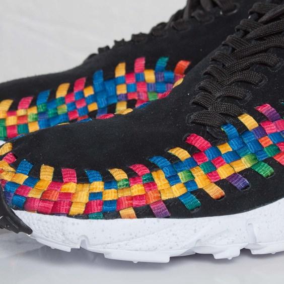 Nike Air Footscape Woven Chukka Premium QS Rainbow 'Black/Black-White' at SNS