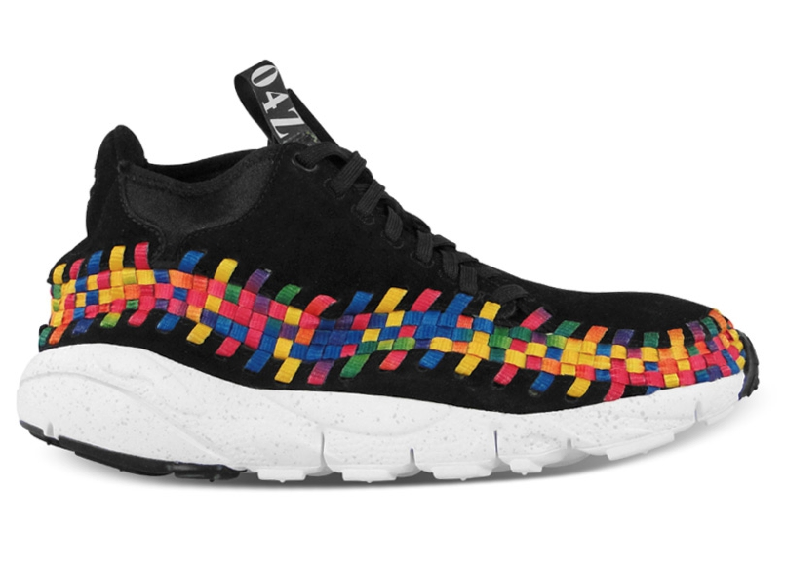 newest 44cfc 4f9c2 Nike Air Footscape Woven Chukka Premium QS Rainbow  Black Black-White  at