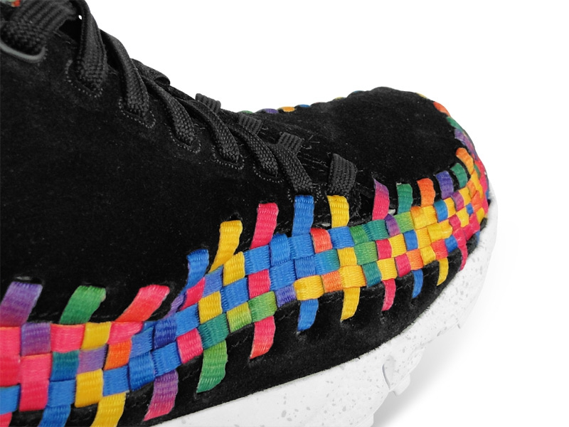 Nike Air Footscape Woven Chukka Premium QS Rainbow 'Black/Black-White' at The Good Will Out
