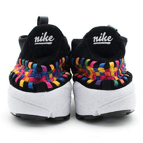 Nike Air Footscape Woven Chukka Premium QS Rainbow 'Black/Black-White' at atmos