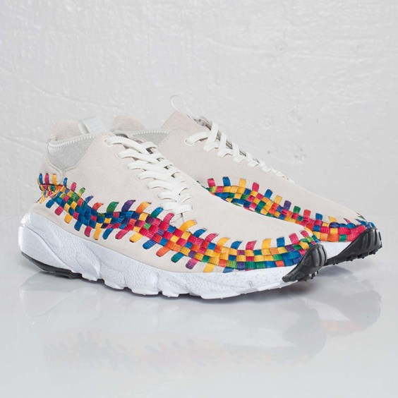 Nike Air Footscape Woven Chukka Premium QS Rainbow 'Sail/Sail-White' at SNS