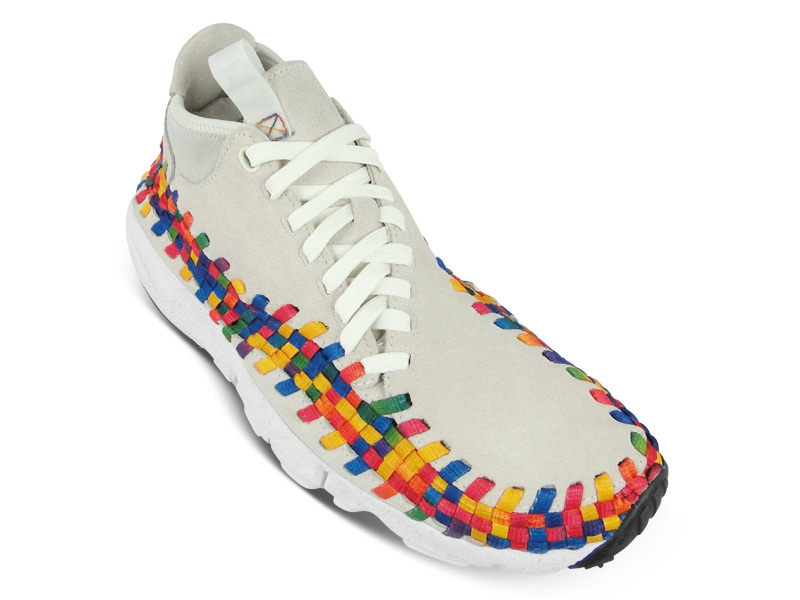 Nike Air Footscape Woven Chukka Premium QS Rainbow 'Sail/Sail-White' at The Good Will Out