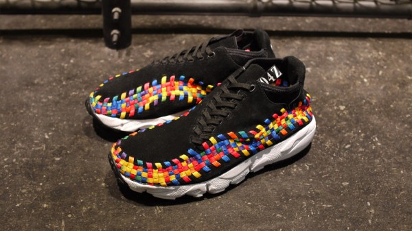 Nike Air Footscape Woven Chukka Premium QS Rainbow 'Black/Black-White' - Release Date + Info