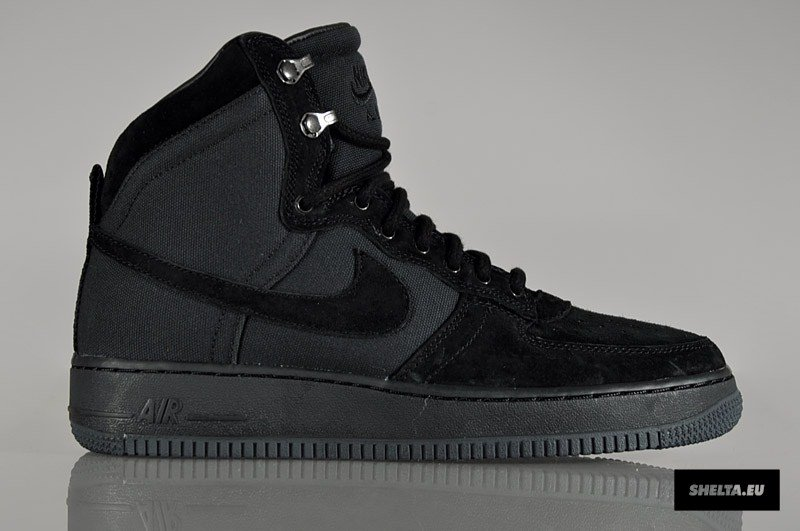 on sale 6f17d 00eb4 Nike Air Force 1 High Decon Military Boot  Black  at Shelta   SneakerFiles