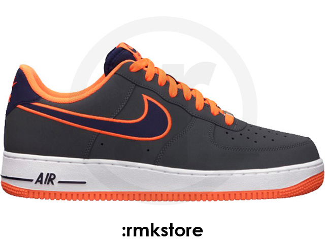 more photos fd973 d17c7 Nike Air Force 1 Low Embroidery  Dark Grey Imperial Purple-Total Orange