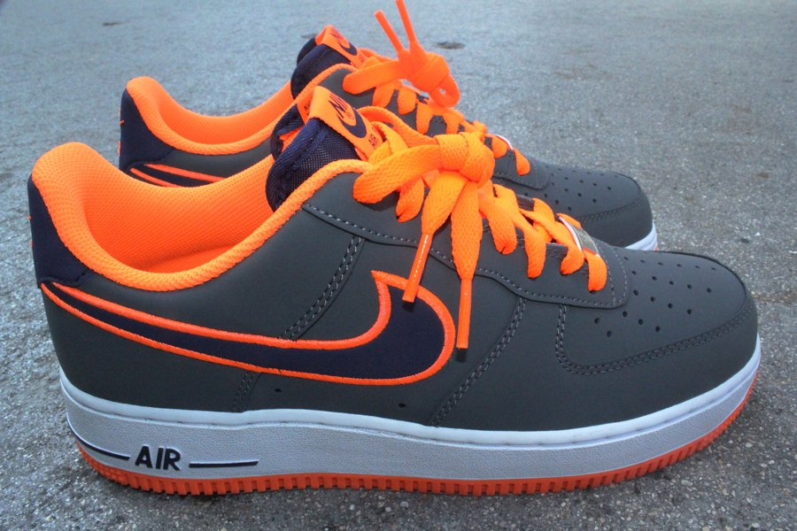 Nike Air Force 1 Low Embroidery 'Dark Grey/Imperial Purple-Total Orange'