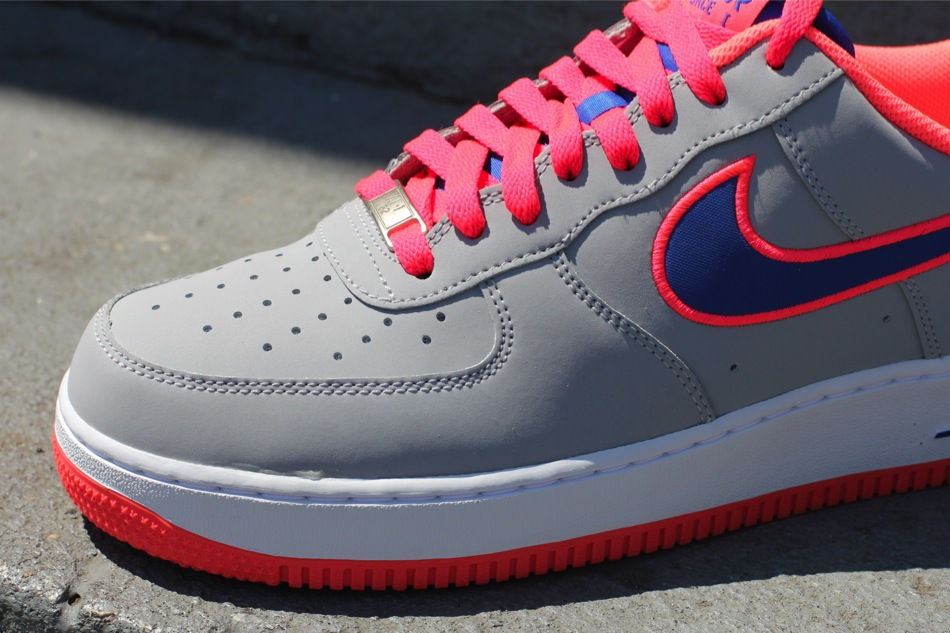 Nike Air Force 1 Low Embroidery 'Wolf Grey/Game Royal-Hot