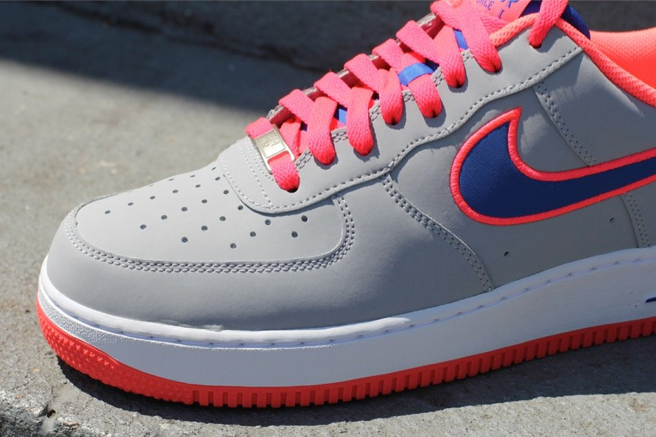 Nike Air Force 1 Low Embroidery 'Wolf Grey/Game Royal-Hot Punch' at Oneness