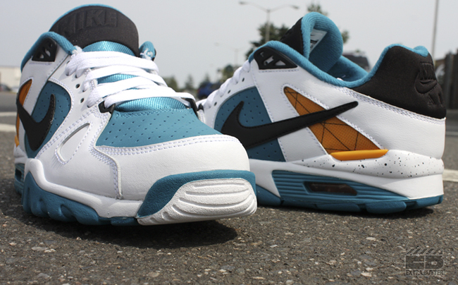 Nike Air Trainer Classic 'White/Orange-New Spruce' at Extra Butter
