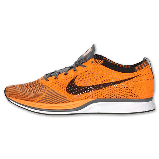 8ed603908f41 Nike Flyknit Racer  Total Orange White-Dark Grey  at Finish Line ...