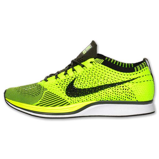 Nike Flyknit Racer 'Volt/Black-Sequoia' at Finish Line