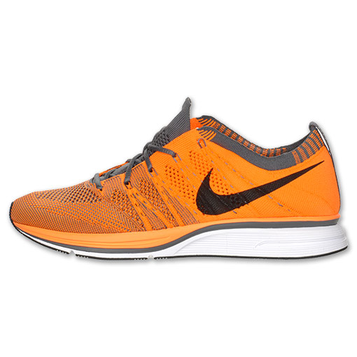 e39bf37ec075 Nike Flyknit Trainer+  Total Orange Barely Orange-Dark Grey  at Finish Line