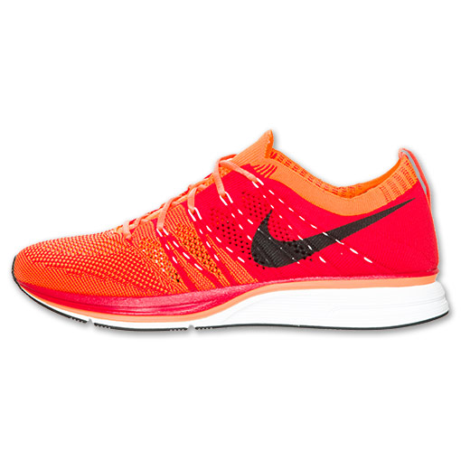 Nike Flyknit Trainer+ 'University Red/White-Total Orange' at Finish Line