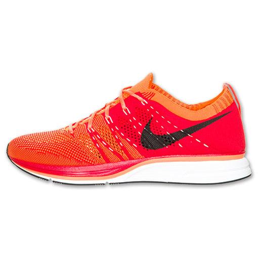 Nike Flyknit Trainer+ 'University Red/White-Total Orange' at Finish Line