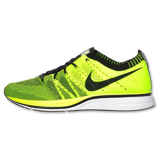 Nike Flyknit Trainer+ 'Volt/Black' at Finish Line