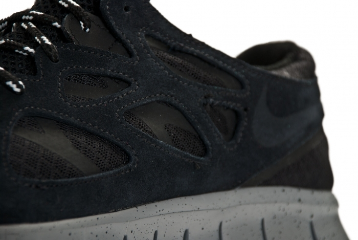 Nike Free Run+ 2 'Black/Black-Metallic Silver'