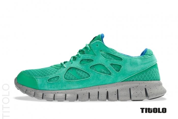 Nike Free Run+ 2 'Stadium Green/Stadium Green-Metallic Silver'
