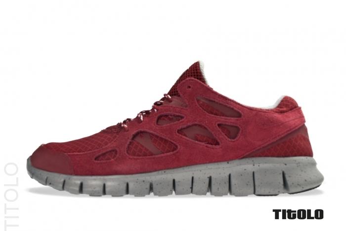 Nike Free Run+ 2 'Team Red/Team Red-Metallic Silver'