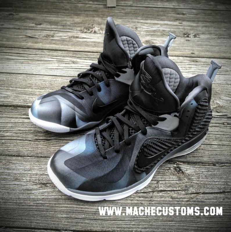 Nike LeBron 9 'Dark Knight' by Mache Custom Kicks