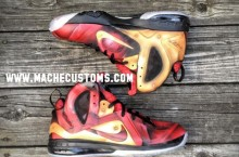 Nike LeBron 9 P.S. Elite 'Tony Stark' by Mache Custom Kicks
