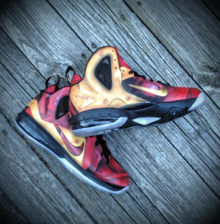 Nike LeBron 9 P.S. Elite 'Tony Stark' by Mache Custom Kicks