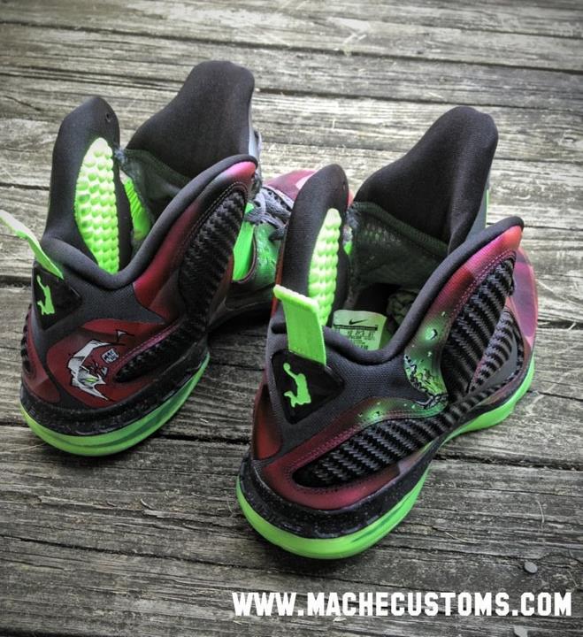 Nike LeBron 9 'Spawn' by Mache Custom Kicks
