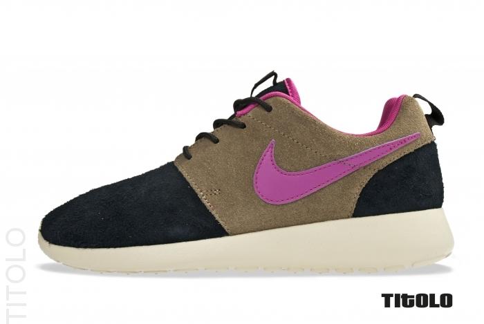 Nike Roshe Run PRM 'Black/Rave Pink-Medium Olive-Sandtrap'