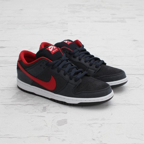 Nike SB Dunk Low 'Dark Obsidian/Gym Red-White'