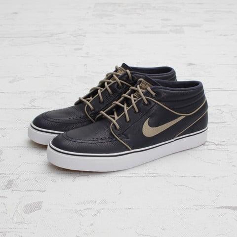 pretty nice 2a132 4adb2 ... EU Kicks Sneaker Magazine  Nike SB Stefan Janoski Mid Premium Marine  Khaki-Gum at Concepts ...