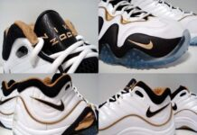 Nike Zoom Uptempo V 'White/Black-Gold'